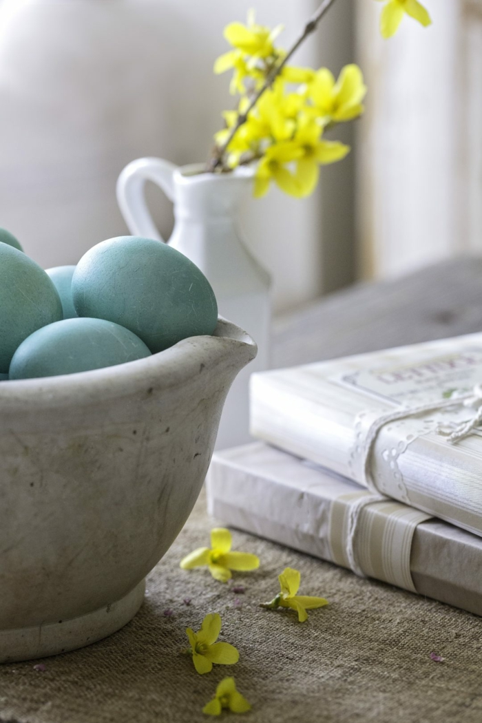 oeuf de pâques idée inspirante de colorant naturel