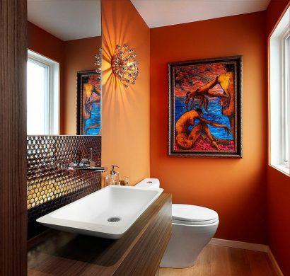 peinture toilettes tendance