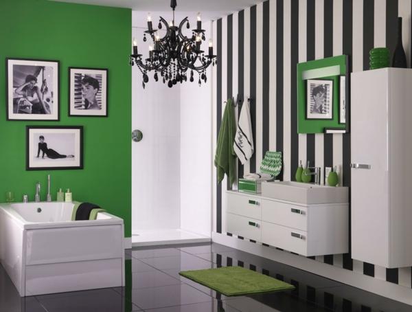 peinture vert émeraude blanc noir salon
