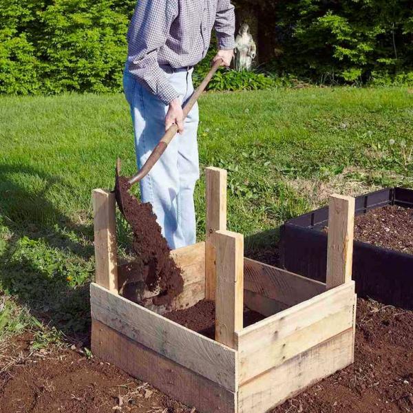 planter les pommes de terre en vieille pallette