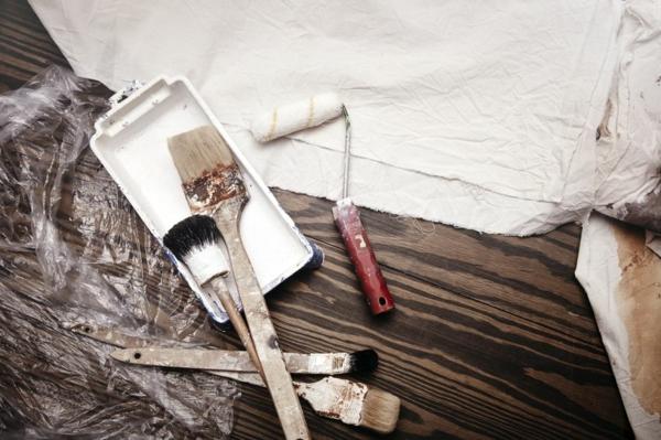 protection bâches en plastiques décoller du papier peint