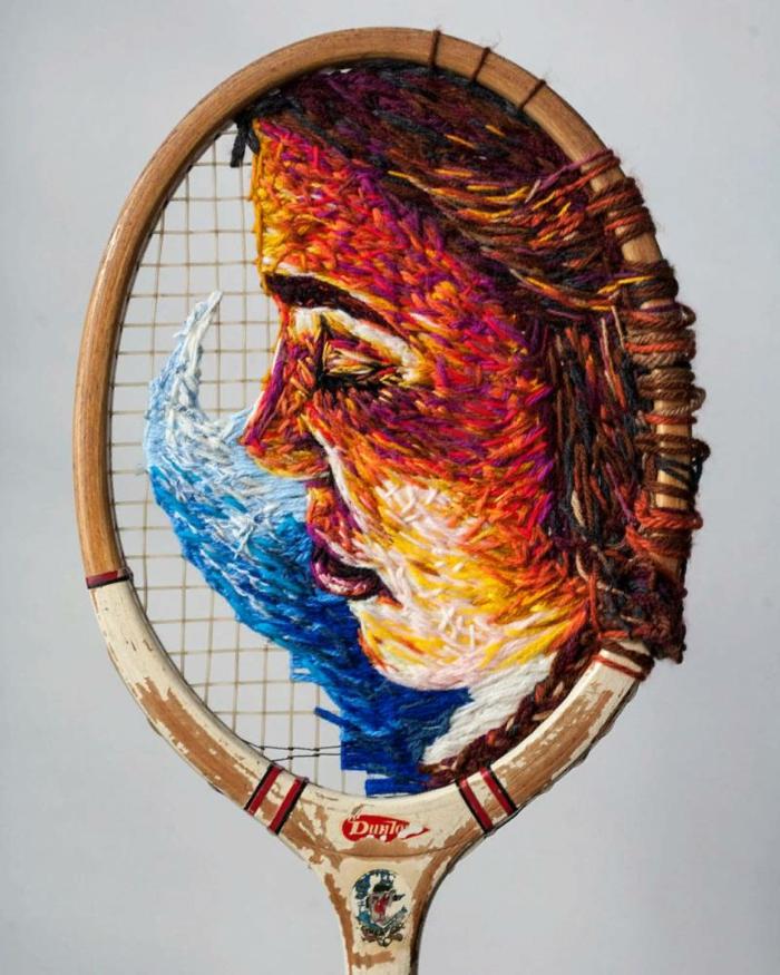 raquette de tennis tissage idée