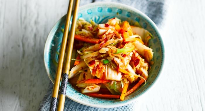 recette kimchi salade d'hiver