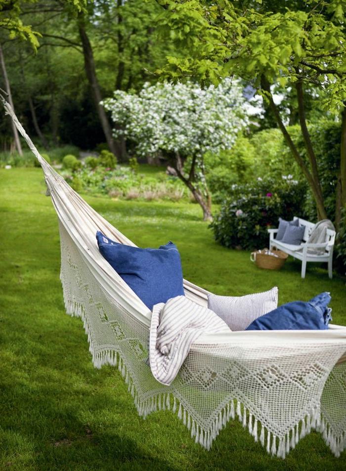 relaxation hamac idée coin détente jardin