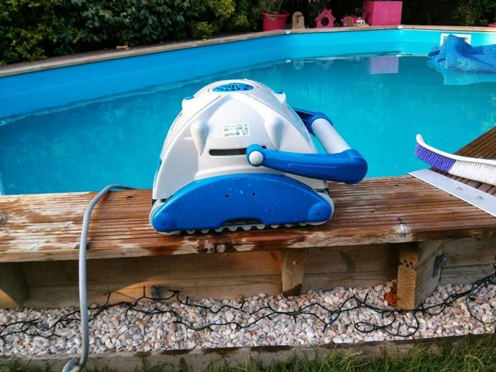 robot piscine éléctrique nettoyage piscine
