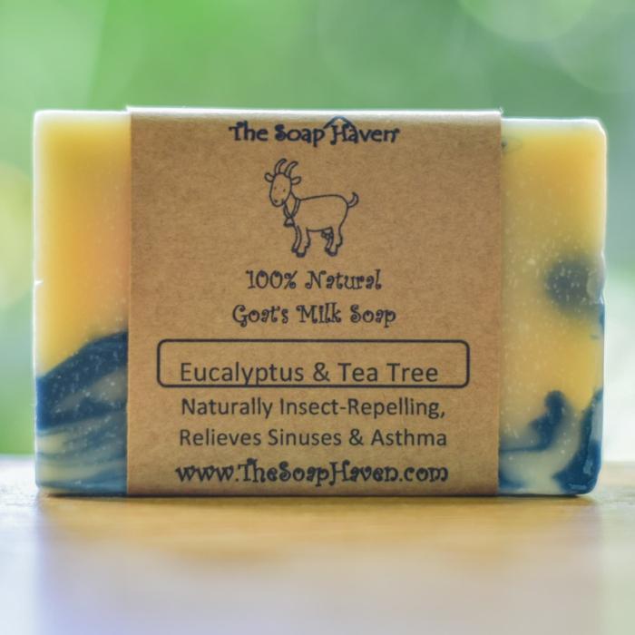 savon au lait de chèvre d'eucalyptus