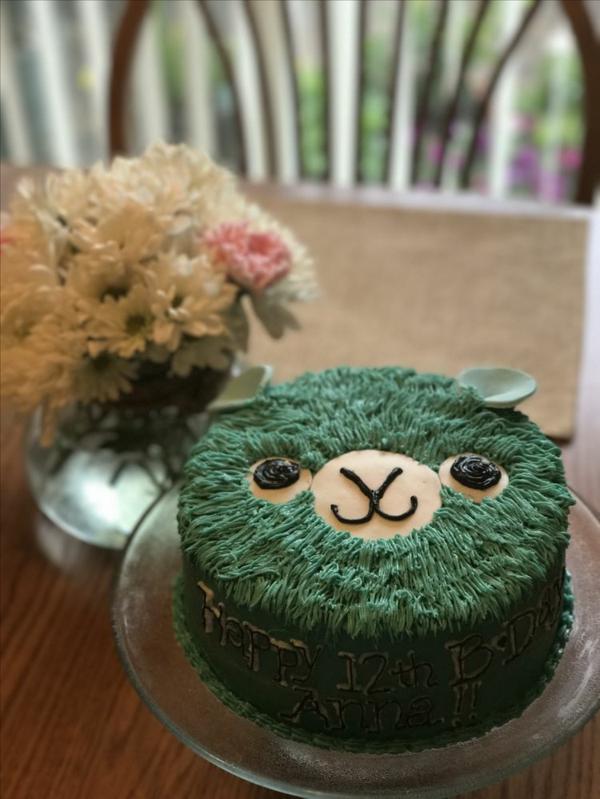 tarte d'anniversaire déco lama