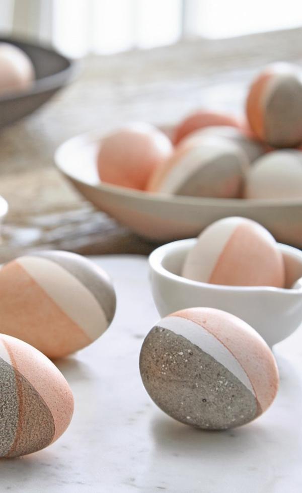 Comment faire des œufs de Pâques décoratifs en béton idée déco