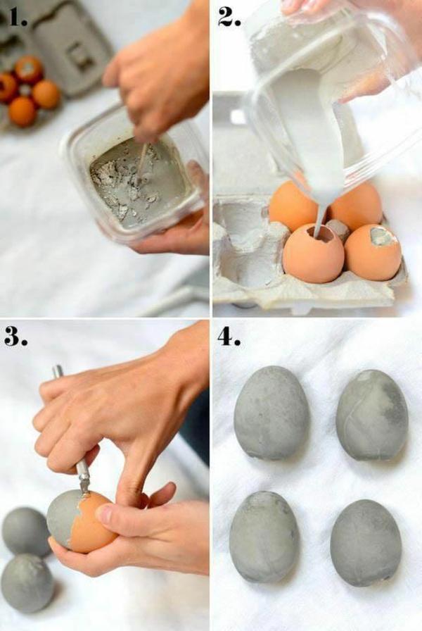 Comment faire des œufs de Pâques décoratifs en béton moules coquilles
