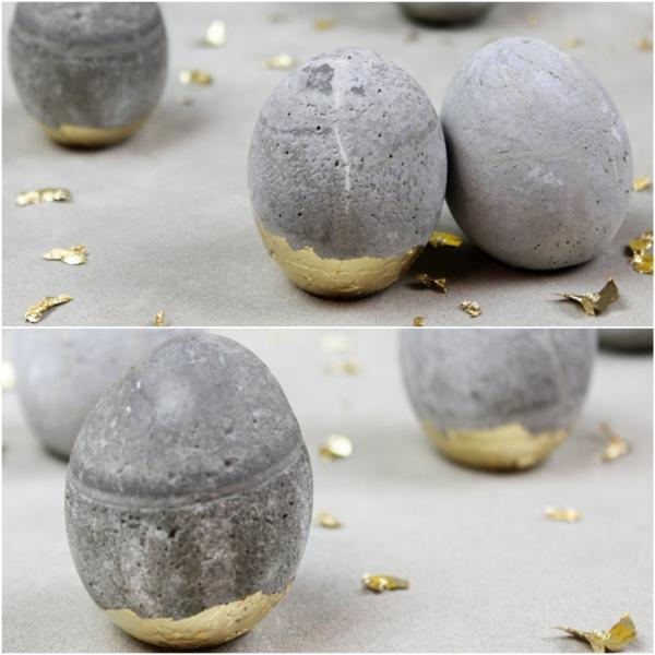 Comment faire des œufs de Pâques décoratifs en béton oeufs dorés