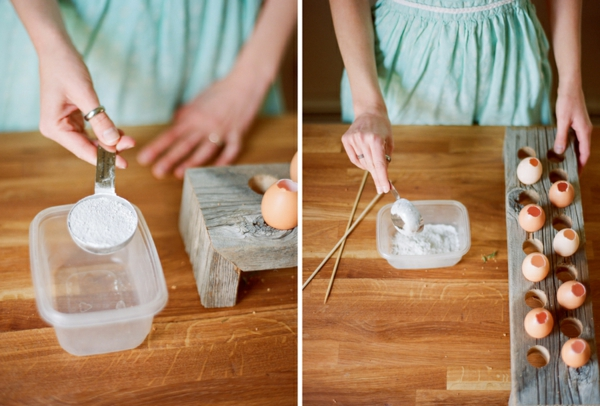 Comment faire des œufs de Pâques décoratifs en béton préparation