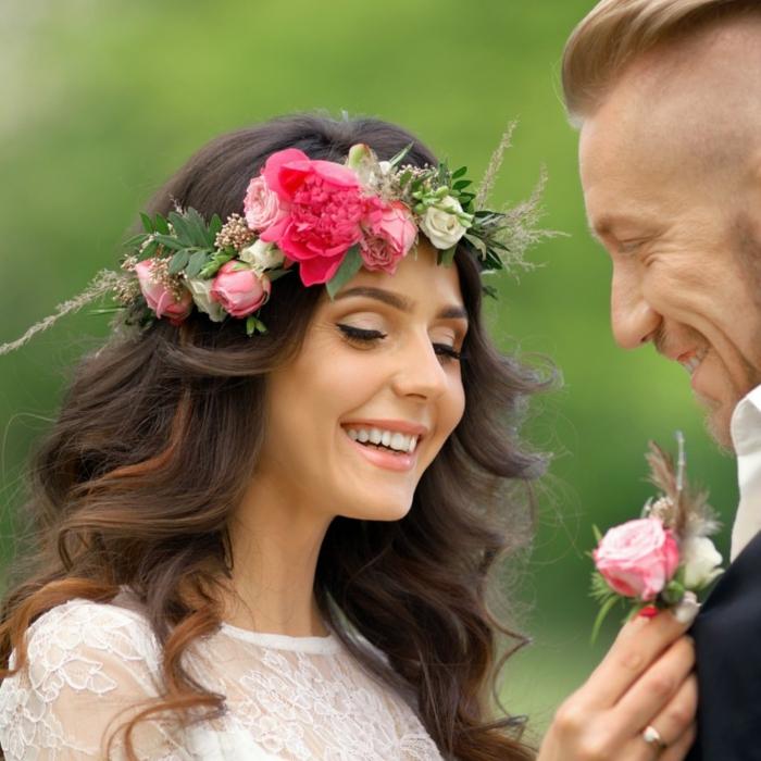DIY diadème mariage avec des fleurs