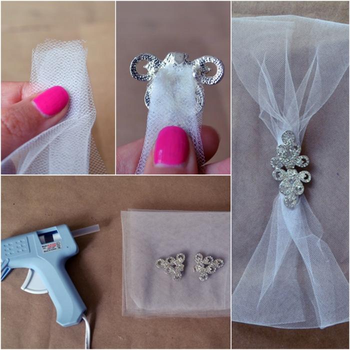 Diadème mariage décoré de strass à faire vous-même instructions