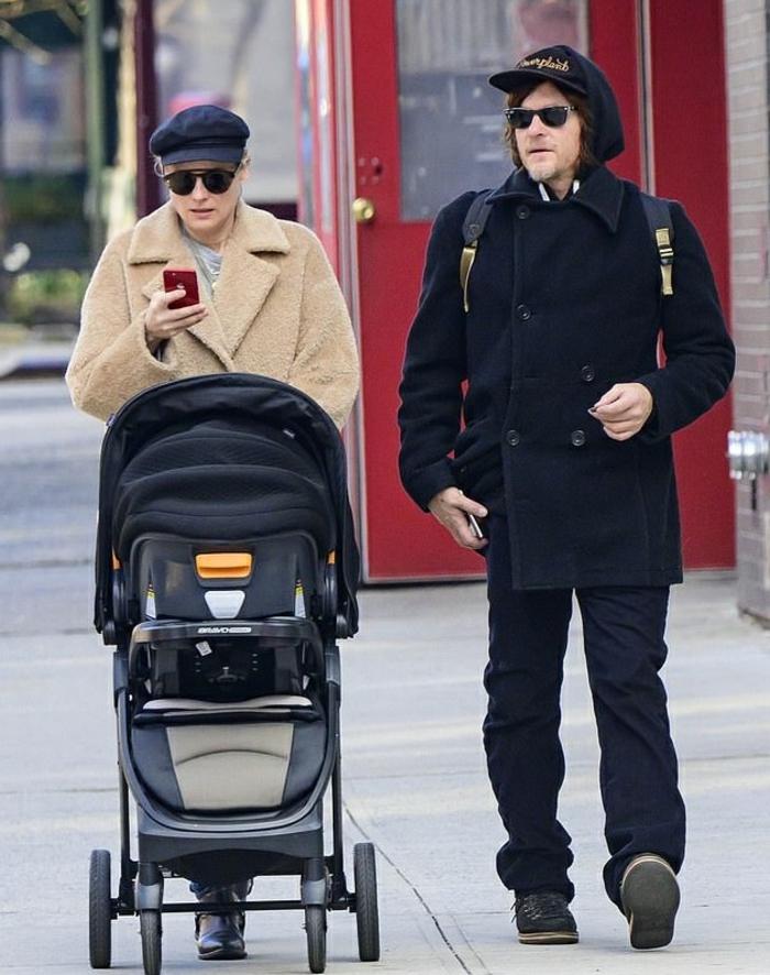 Diane Kruger et Norman Reedus avec leur bébé