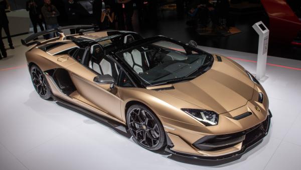 Salon de l'automobile 2019 à Genève Lamborghini Aventador SVJ Roadster