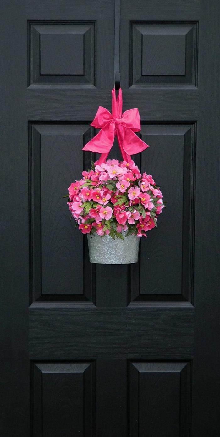 activité manuelle printemps couronne de fleurs