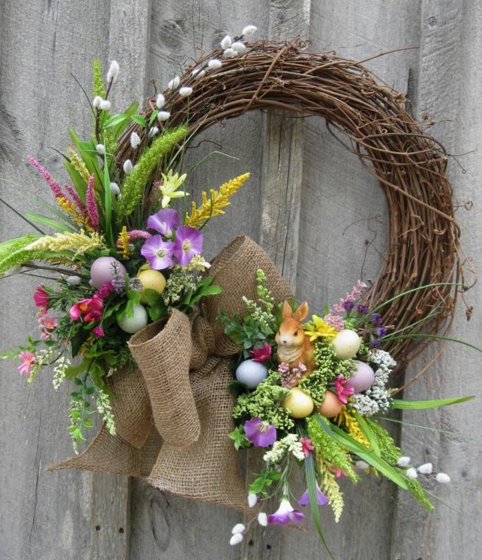 activité manuelle printemps couronne de pâques