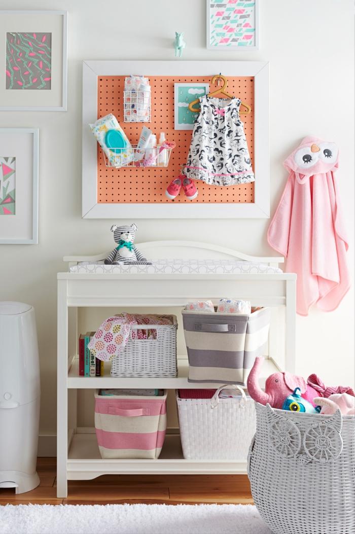 aménagement chambre enfant avec pegboard