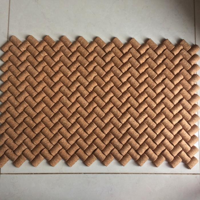 bouchon de liège pour un tapis de bain original