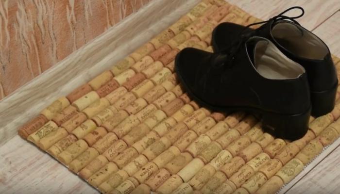 bouchon de liège tapis diy