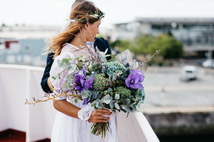 bouquet de fleurs champêtre pour mariage