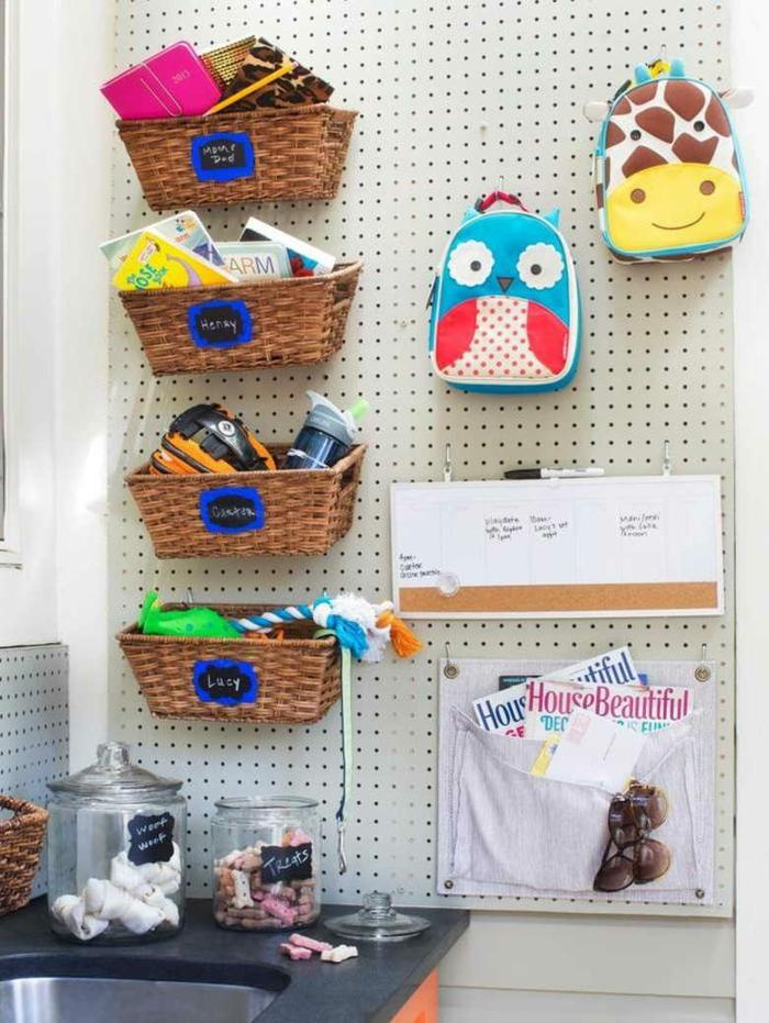 chambre enfant idée avec pegboard
