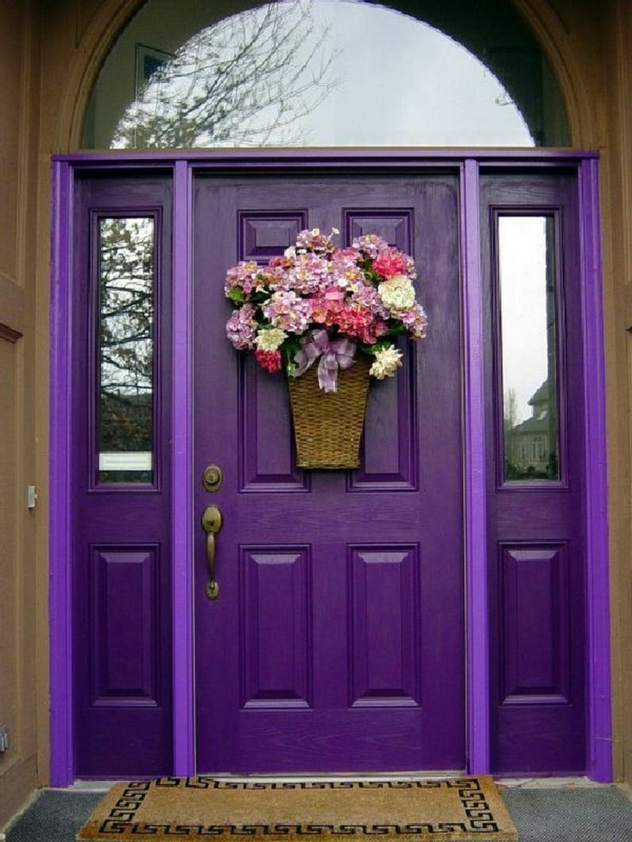comment décorer la porte d'entrée activité manuelle printemps
