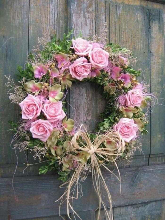 couronne aux roses activité manuelle printemps