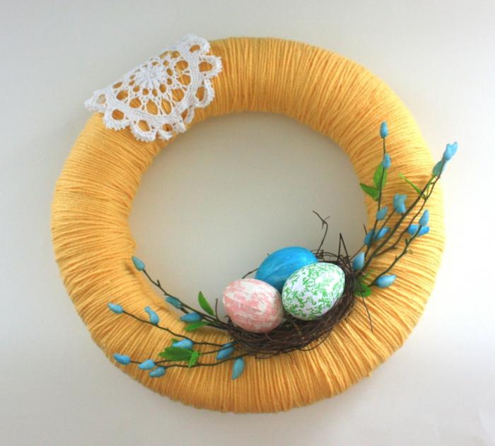 couronne porte d'entrée facile à faire activité manuelle printemps