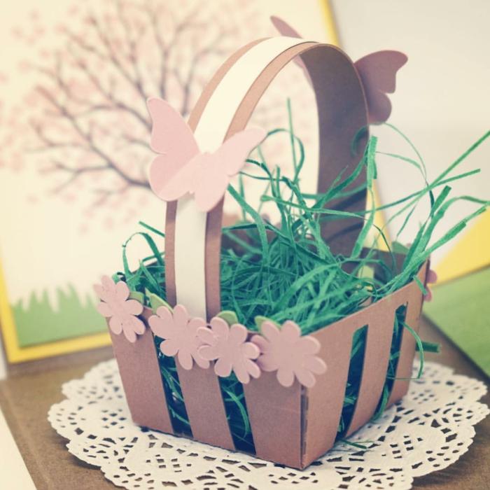 craft papier idée diy panier de Pâques