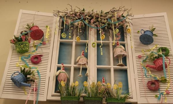 déco fenêtre pour pâques à faire soi-même