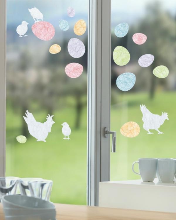 déco fenêtre pour pâques papier