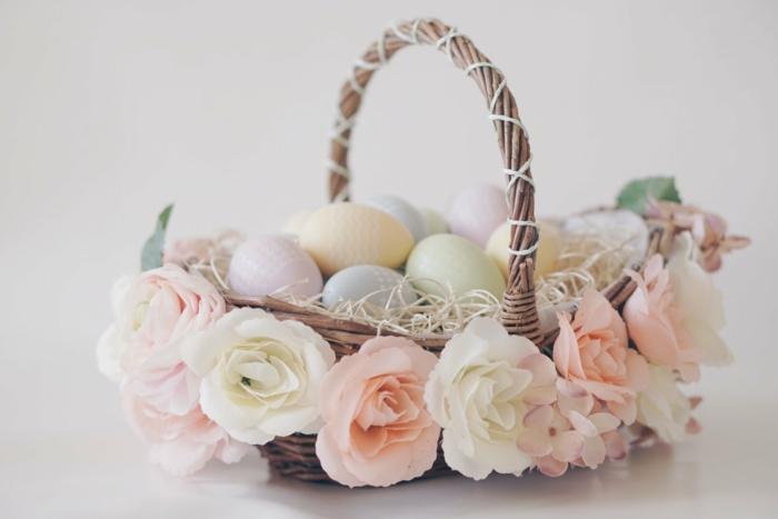 déco florale diy panier de Pâques idée