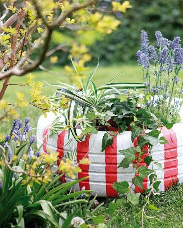 déco jardin récup pneu recyclé