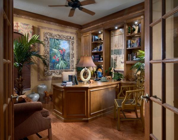 déco jungle cabinet mobilier en bois