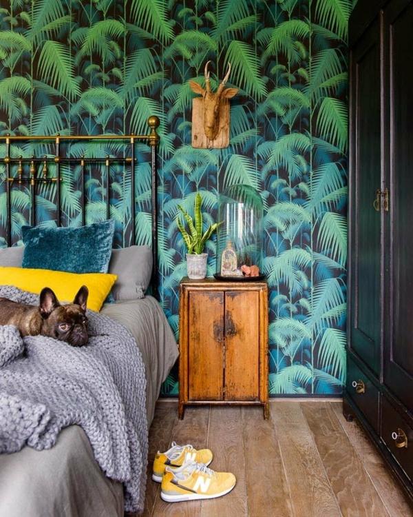déco jungle chambre adulte mobilier africain