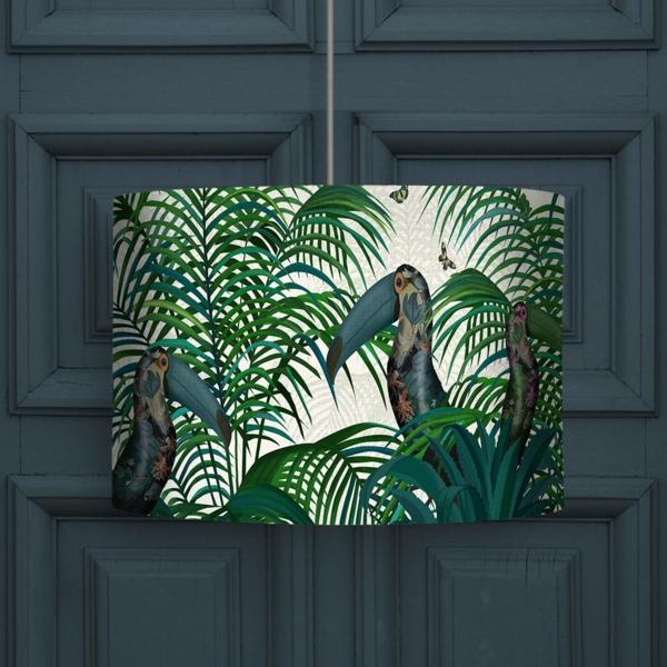 déco jungle lampe motifs tropicaux
