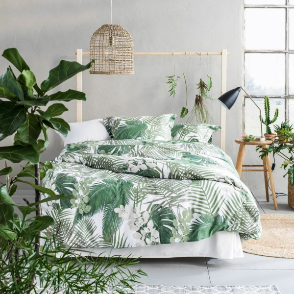 Déco Jungle Linge De Lit Chambre à Coucher