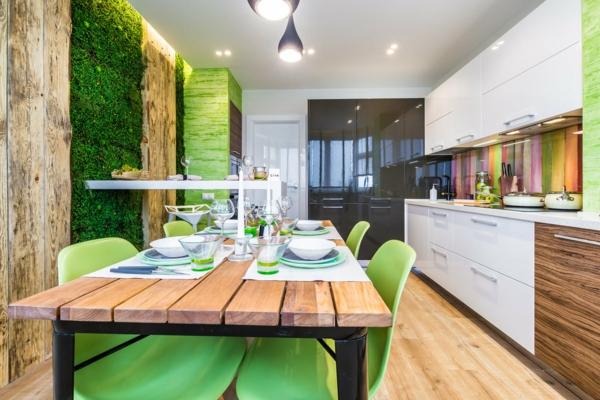 déco jungle mur végétal cuisine