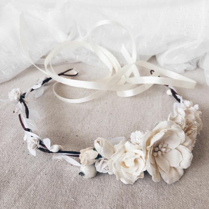 diy diadème mariage fleurs en cire