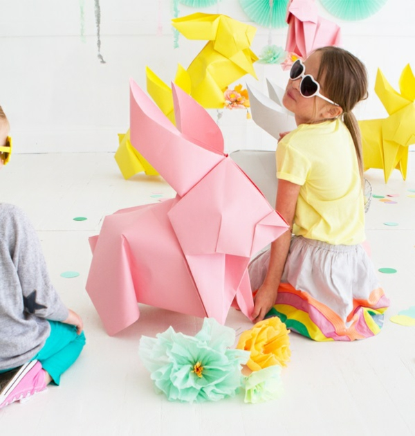 diy grand lapin de pâques origami