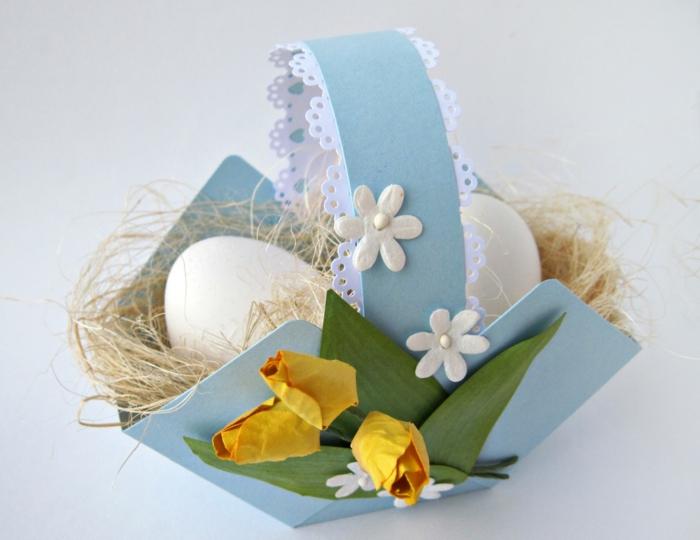 diy idée facile panier de Pâques en carton