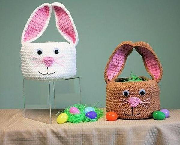 diy lapin de pâques panier crochet