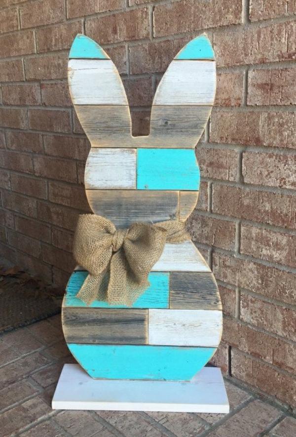 diy lapin de pâques planches de bois
