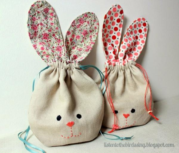diy lapin de pâques sac