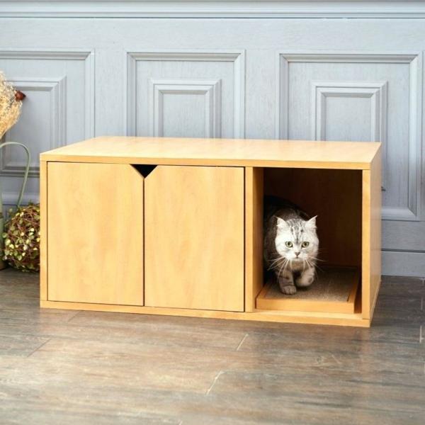 diy meuble cache litière armoire en bois