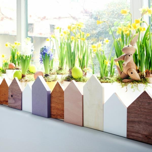 diy mini jardin déco fenêtre pour pâques