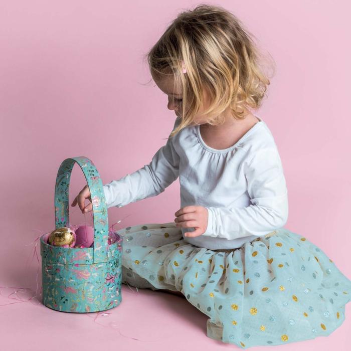 diy panier de Pâques pour amuser les enfants