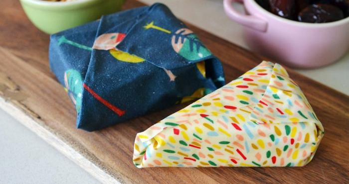 emballage film alimentaire lavaable et réutilisable diy