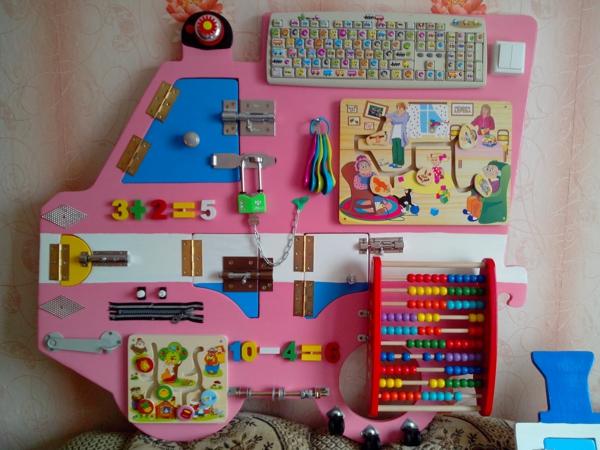 fabriquer vous-même panneau sensoriel d'inspiration montessori